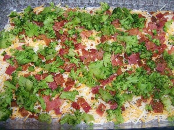 Layer of Cheese, Bacon and Broccoli