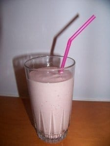 Low Carb Strawberry Protein Shake