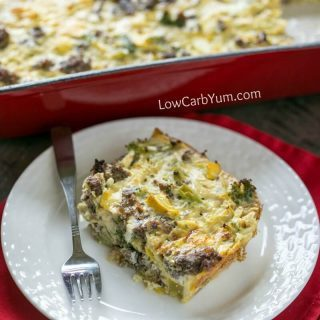 Easy Paleo Breakfast Casserole with Sausage