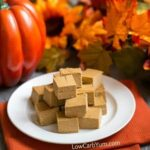 Easy pumpkin fudge recipe - sugar free paleo