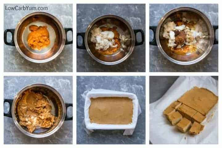 Easy pumpkin fudge recipe - sugar free paleo