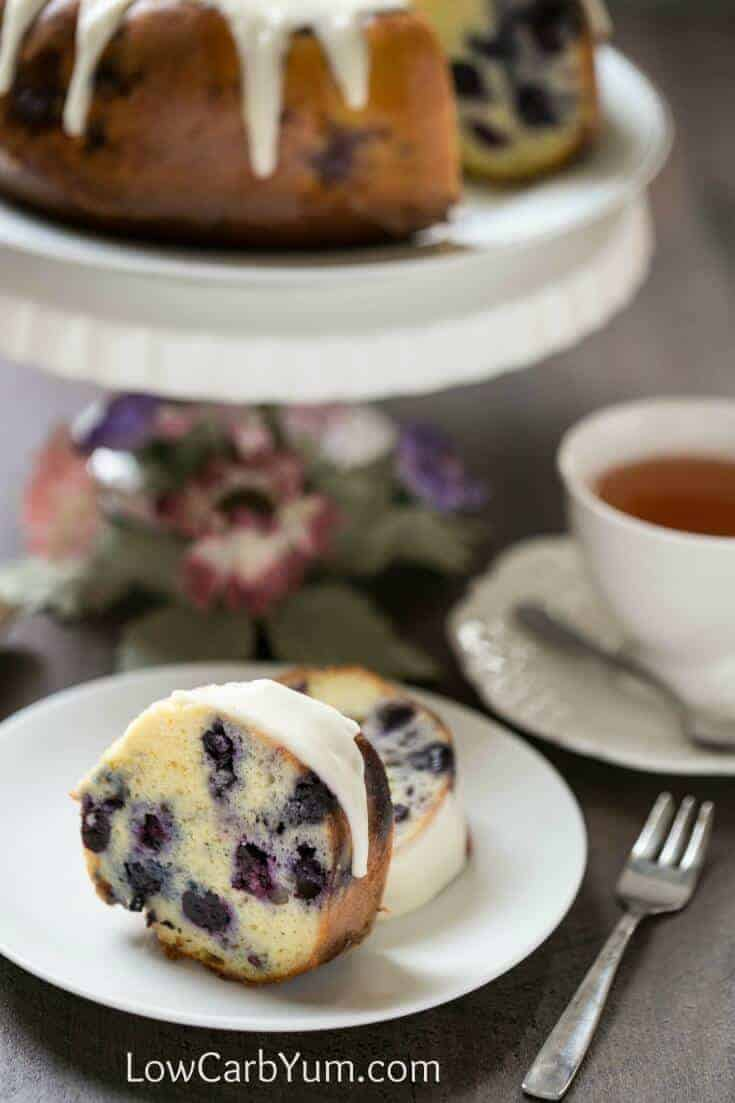 serving gluten-free lemon blueberry pound cake recipe