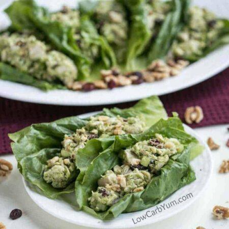 Low carb paleo cranberry walnut chicken salad
