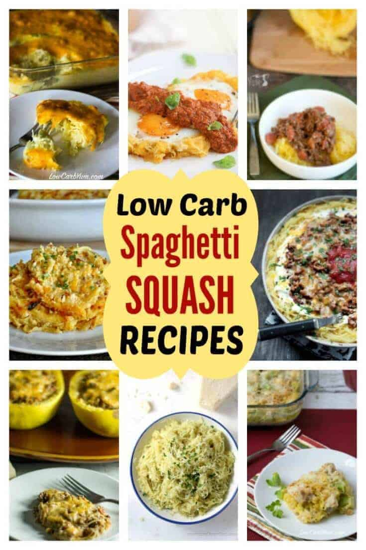 collection of low carb spaghetti squash recipes