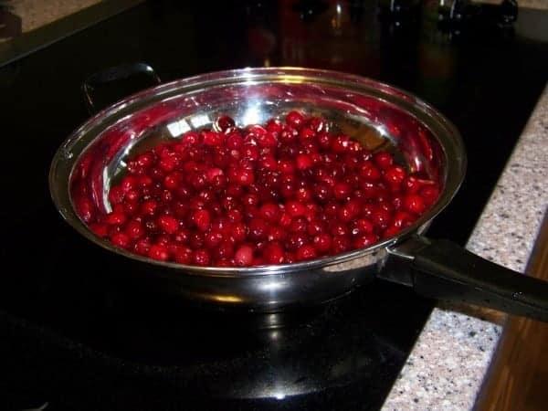Cranberries in Skillet