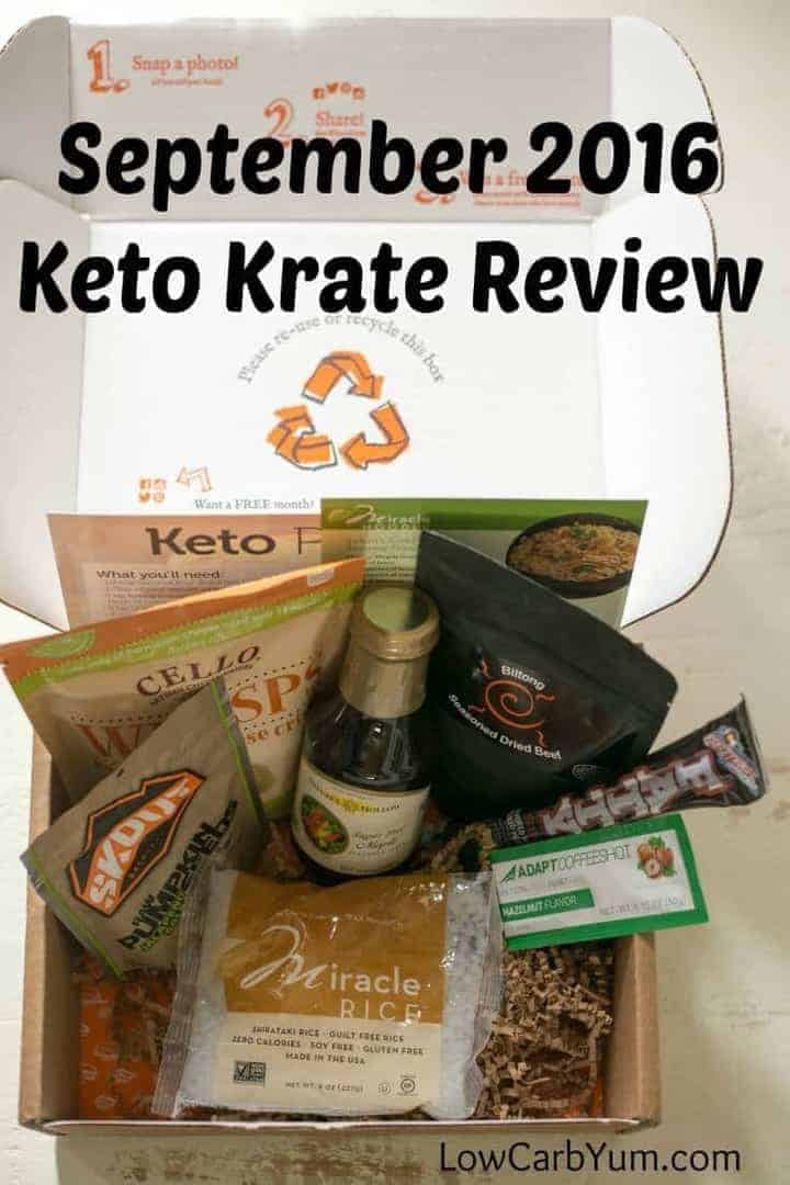 A review of the September 2016 Keto Krate subscription service providing keto snacks. Well worth a look for those following the low carb way of eating!