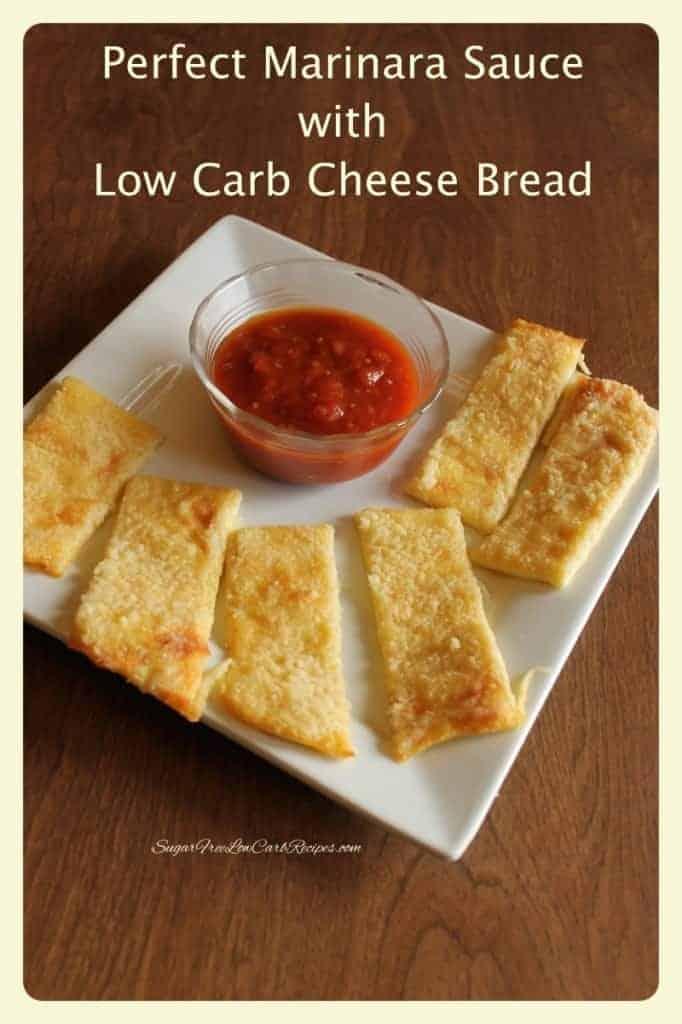 Perfect Marinara Low Carb Cheese Bread