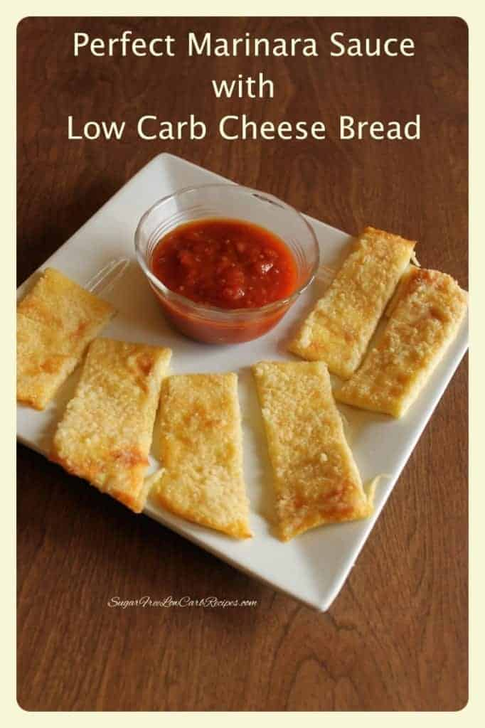 Perfect Marinara Low Carb Cheese Bread