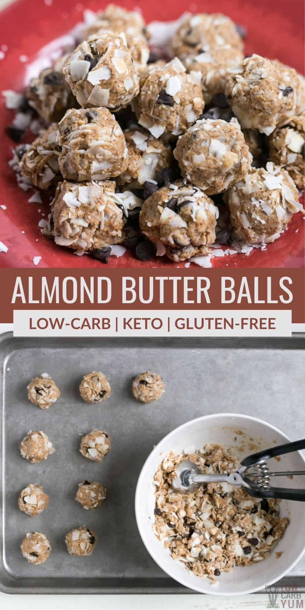 almond butter balls pinterest image