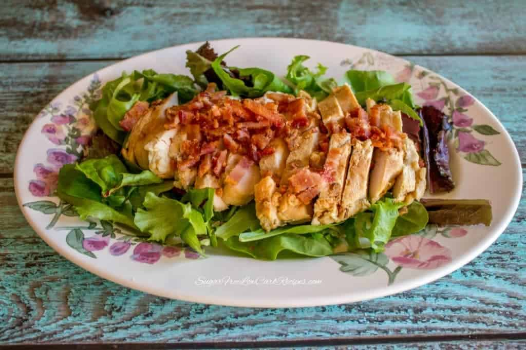 chicken bacon salad greens