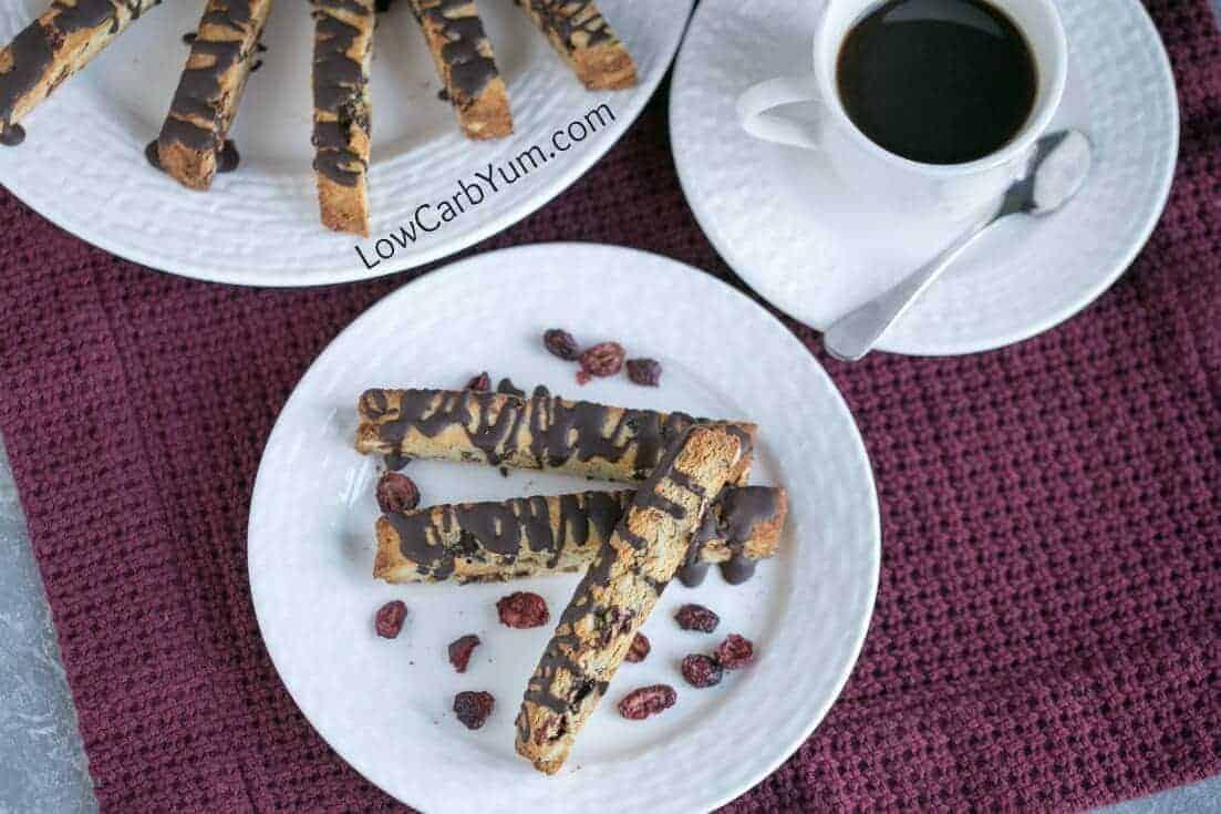 Gluten free cranberry almond biscotti cookies