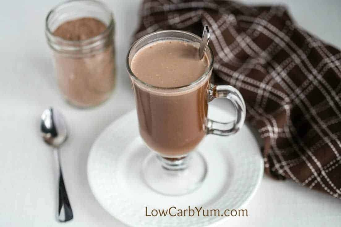 homemade instant hot chocolate in mug