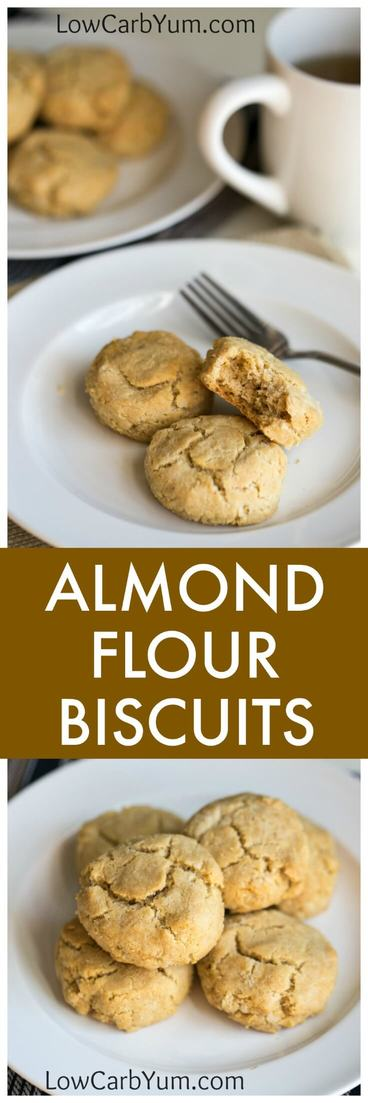 A low carb almond flour biscuits recipe that's also paleo friendly. These savory gluten free biscuits are great with any meal or eat them as a snack. | LowCarbYum.com