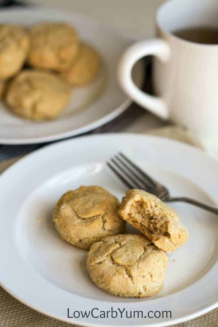 A low carb almond flour biscuits recipe that's also paleo friendly. These savory gluten free biscuits are great with any meal or eat them as a snack.