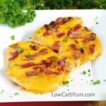 Low carb baked cheddar bacon chicken recipe