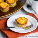 Low carb egg muffins wrapped in bacon
