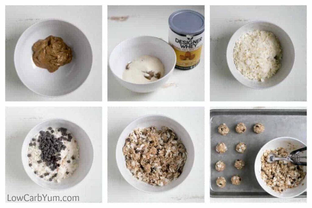 No bake almond butter balls