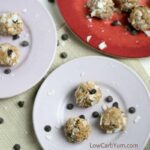 Almond Butter Balls with Coconut and Chocolate Chips