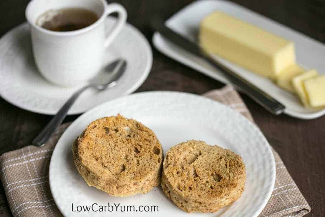 Low carb paleo english muffins in a minute