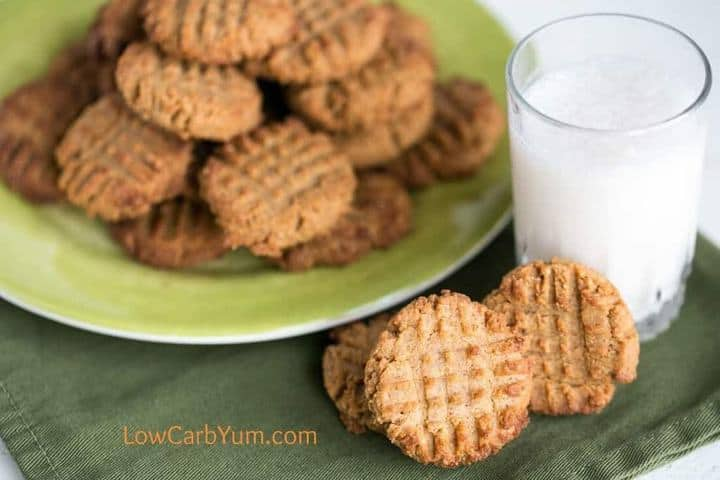 Low Carb Peanut Butter Cookies with Coconut Flour | Low Carb Yum