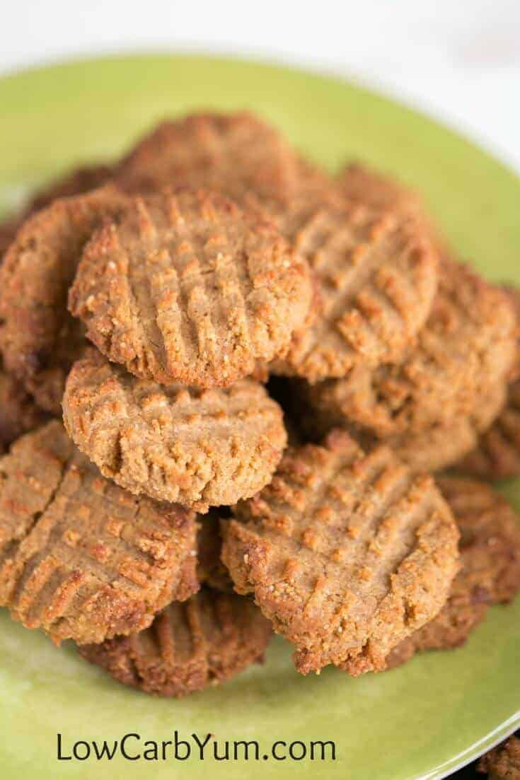 Low Carb Peanut Butter Cookies with Coconut Flour | Low ...