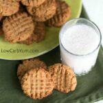 Low carb peanut butter cookies with coconut flour
