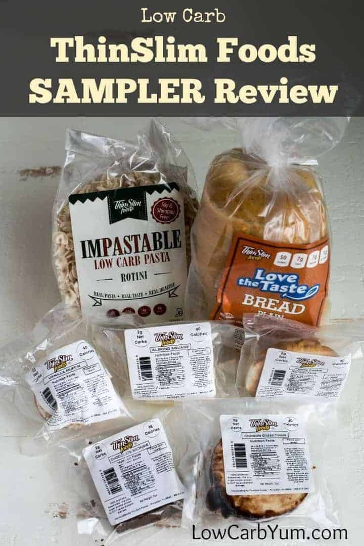 Are you looking for low carb sweets, bread, and pasta? ThinSlim Foods is a company that specializes in low carb foods. Here's a review of the sampler pack. | LowCarbYum.com