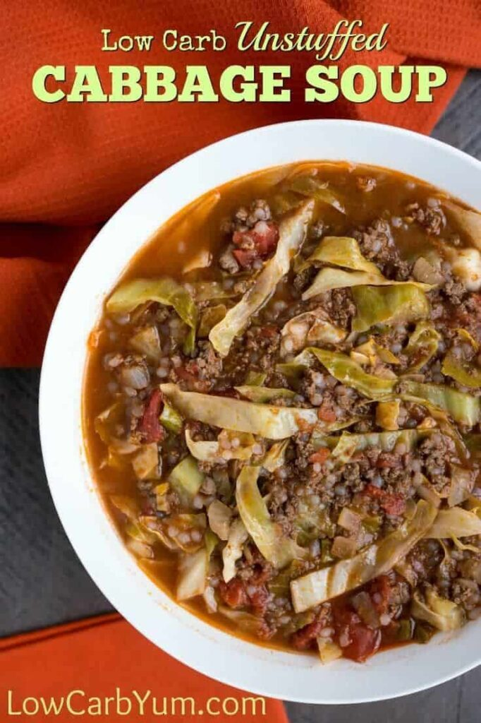 Unstuffed Cabbage Soup Recipe - Easy Low Carb Meal | Low Carb Yum