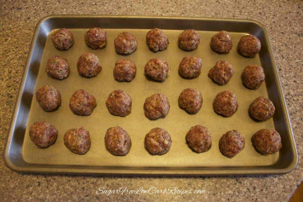 gluten free low carb meatballs before baking