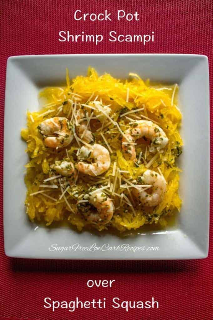Crock Pot Shrimp Scampi Easy Slow Cooker Recipe Low Carb Yum