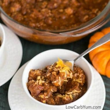 Turkey Pumpkin Chili in the Slow Cooker