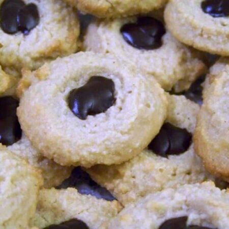Low carb chocolate peanut butter thumbprint cookies
