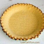 Low carb coconut flour pie crust - gluten free