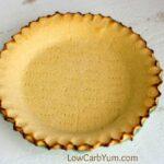 Low carb coconut flour pie crust - gluten free