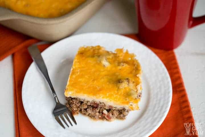 low carb mexican casserole with ground beef
