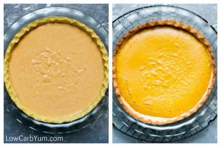 baking the custard and crust