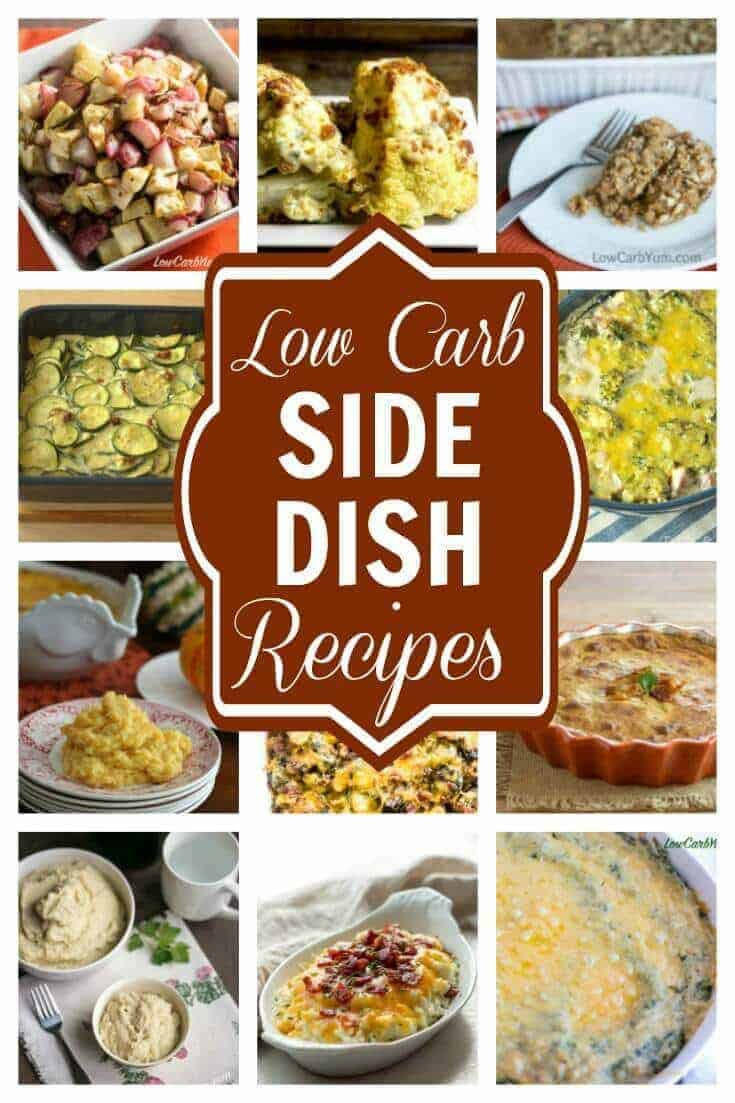 The food that accompanies your main dish can make or break a special meal. No worries! These fantastic low carb side dishes are all winners. | LowCarbYum.com