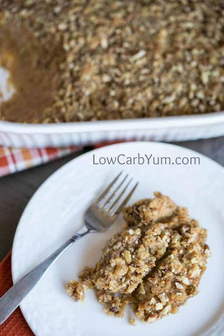 easy low carb sweet potatoe casserole