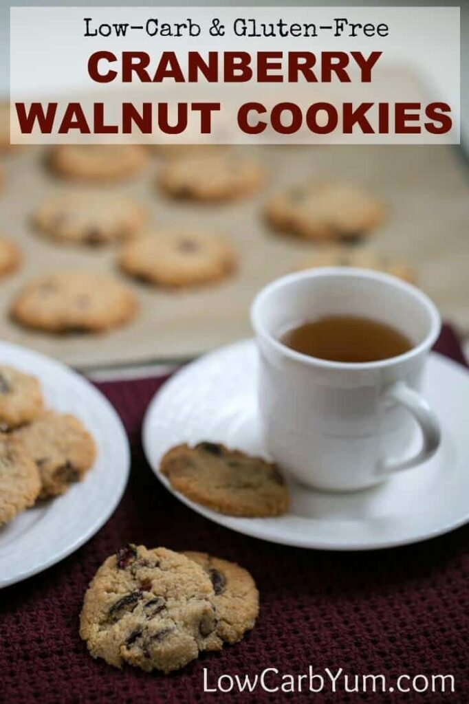 low carb cranberry walnut cookies