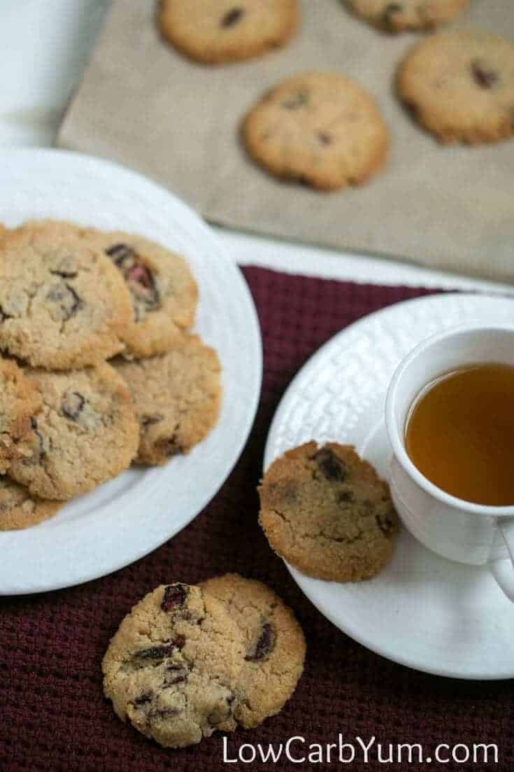 gluten free almond flour cranberry walnut cookies