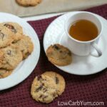 Almond flour cranberry walnut cookies