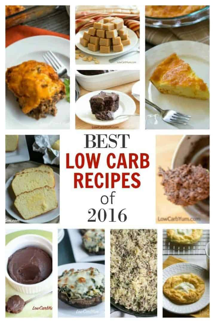 Check out some of 2016's best low carb recipes! From low carb desserts to low carb meal ideas. | LowCarbYum.com