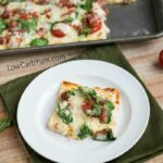 Easy low carb pizza crust with white sauce