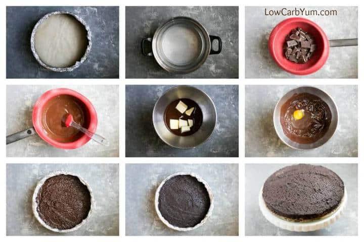 Low carb keto flourless chocolate cake