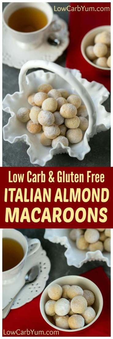 Classic gluten free Italian almond macaroons are super easy to make. These low carb cookies are perfect for sharing with family and friends.
