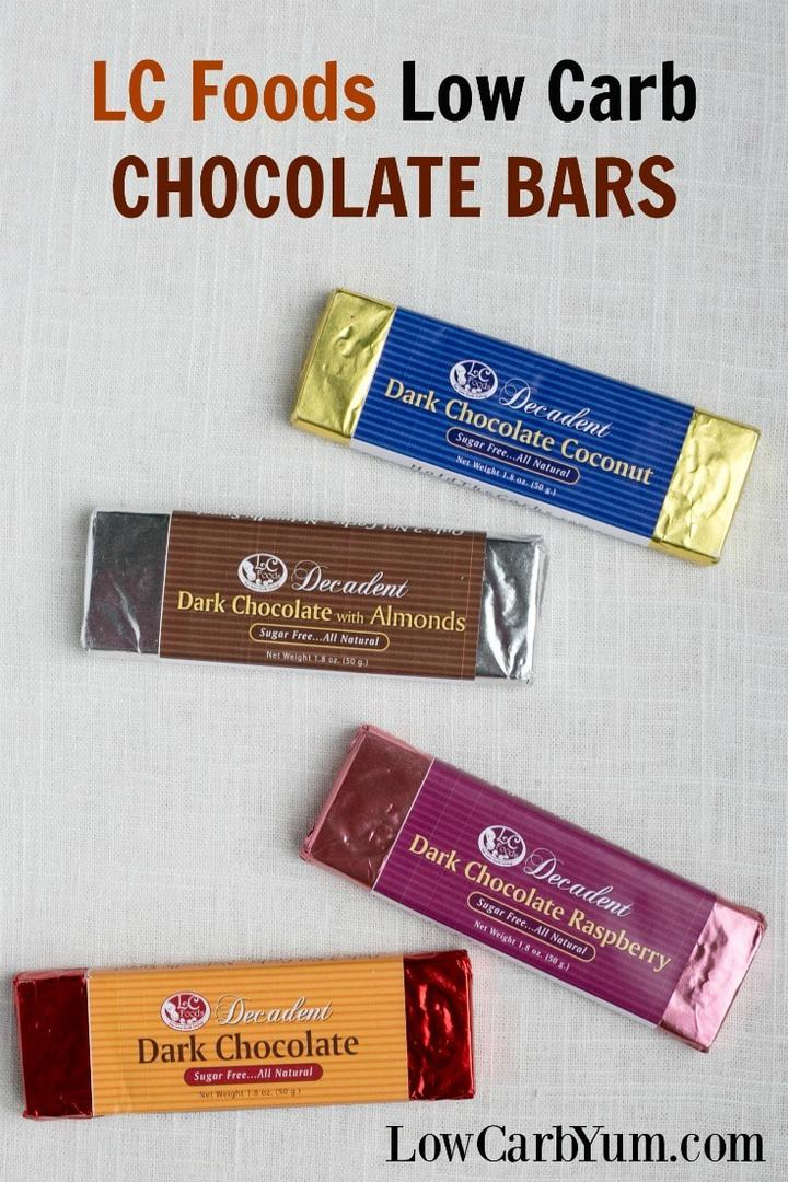 Are you looking for creamy low carb chocolate bars that won't cause gastric distress? You must check out the decadent dark chocolate bars by LC Foods. | LowCarbYum.com