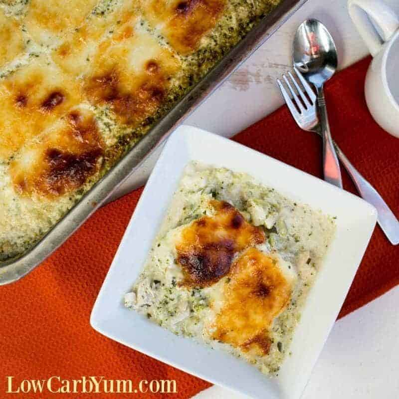 Chicken Alfredo Casserole with Broccoli