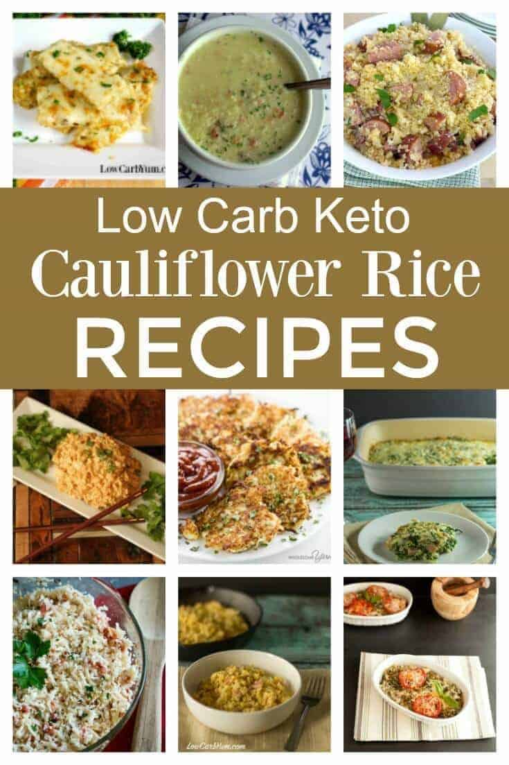 Not sure what to do with all that riced cauliflower you made? These easy low carb keto cauliflower rice recipes are sure to become family favorites! | LowCarbYum.com
