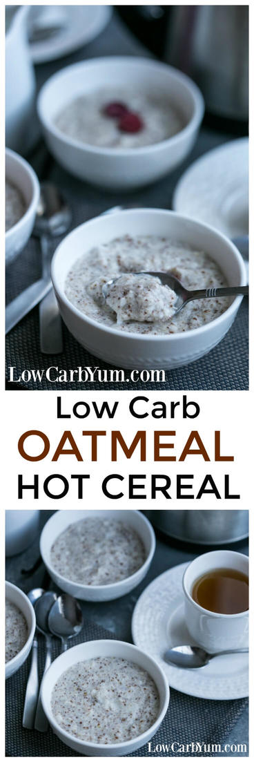 Do you love the comfort of hot cereal on a cold morning? If so, this yummy low carb oatmeal recipe is sure to become a winter favorite.   LowCarbYum.com