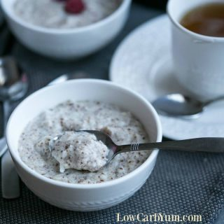 Low carb oatmeal recipe - hot cereal